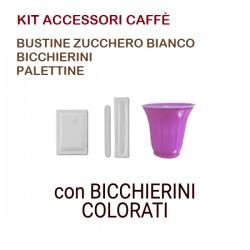 KIT ACCESSORI CAFFÈ con 50...
